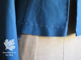 Saum - Markierung: endgültige Jackenlänge