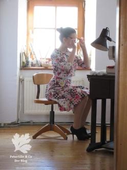 neuer-schnitt 1962-november Zweiteiliges Kleid nähen 60er