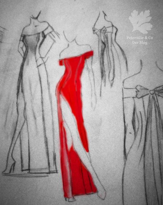 Schulterfreies kleid trager annahen