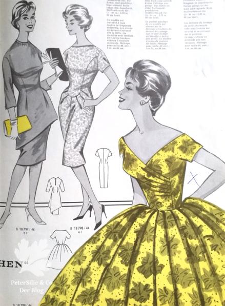 Glorias Weltmode, Vintage Kleid, Schnitt 50er