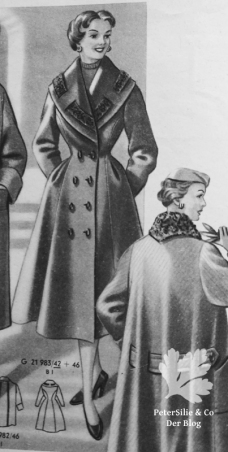 Glorias Weltmode, Vintage Mantel Schnitt