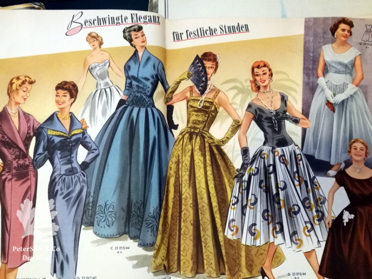 Glorias Weltmode, Vintage Abendmode, 50er