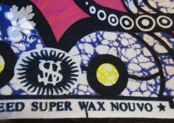 Waxprint Stoffkante