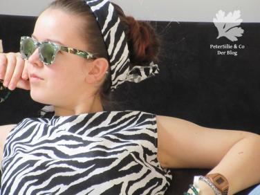 Zebra Bluse Detail