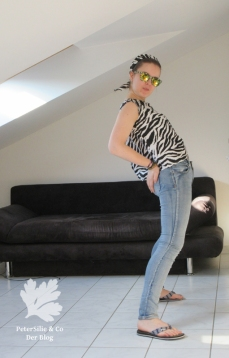 Vintage Bluse mit Zebra, Festival Look