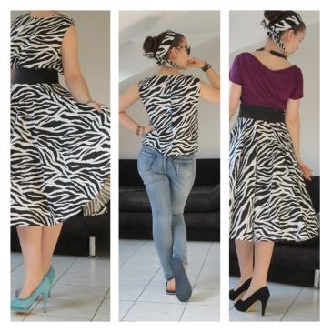 Zebra Outfit Varianten