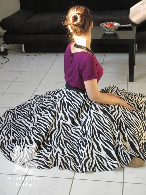 Zebra Tellerrock, Burda Jersey Shirt 2002 50s