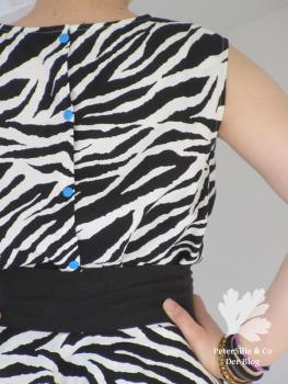 Vintage Zebra Bluse