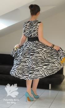 Vintage Zebra Kleid