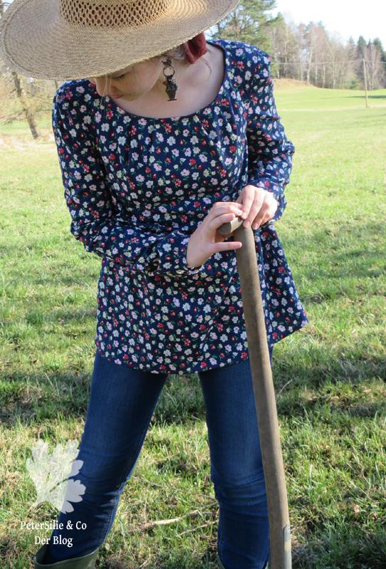 Textilsucht Moana Probenähen Bluse Blümchen Nähen