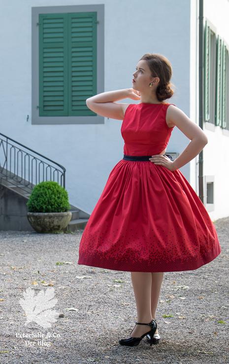 Beyer Mode 6 1961, Vintage Kleid nähen, Rot, 50s, zweiteilig, Rückenauschnitt