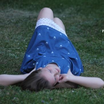 Nähkind Retroliebe Kleid Jeans