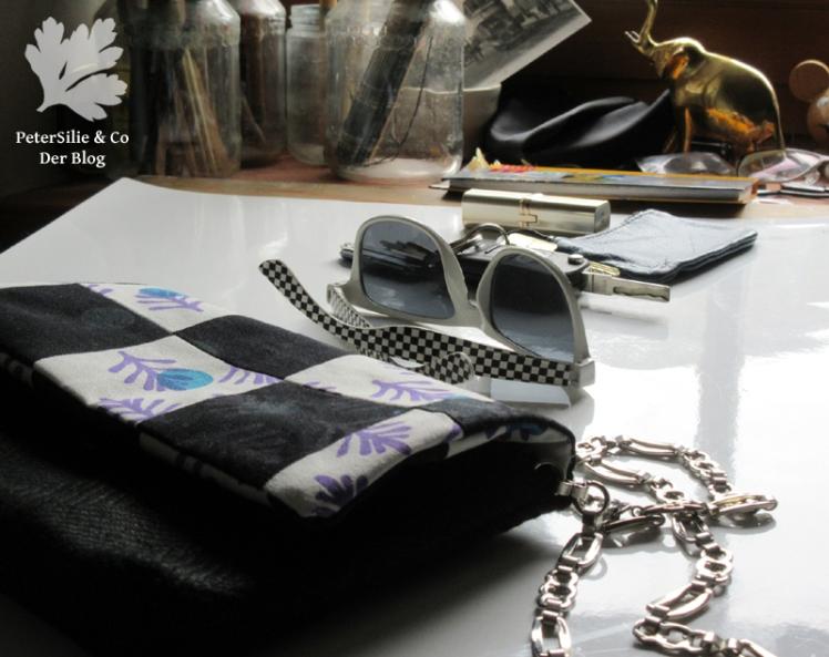 Tasche Patchwork Leinen Siebdruck