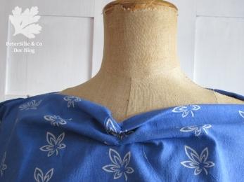 Bluse Blaudruck