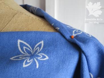 Bluse Blaudruck Schulter