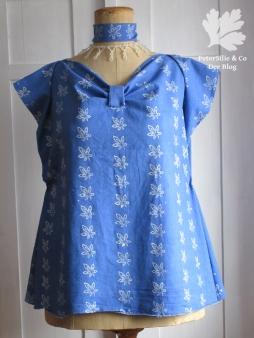 Bluse Blaudruck Variante