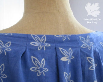 Blaudruckbluse Rücken
