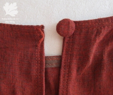 Handloom Karlotta Pink 20er Jahre Kleid nähen bezogner Knopf