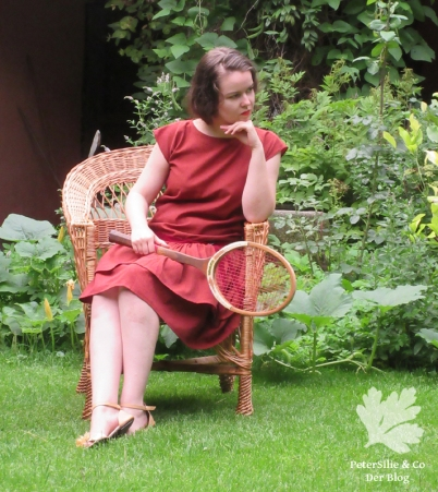 20er Jahre Vintage Kleid Nähen Karlotta Pink Handloom