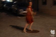 20er Jahre Vintage Kleid nähen Schemaschnitt Handdloom Karlotta Pink
