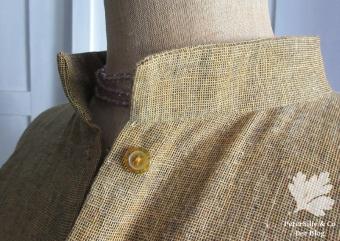 Bluse Stehkragen handloom