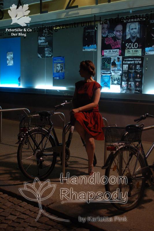 Kleid Handloom Karlotta Pink 20er Jahre Vintage Kleid nähen Blog