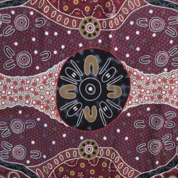 Aborigine Print Karlotta Pink