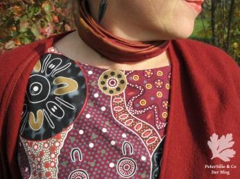 Schlupfbluse Aborigineprint Karlotta Pink Blutsgeschwister-Nähbuch