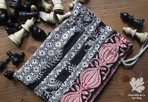 Beutel Baumwolle Indischer Blockprint Karlotta Pink