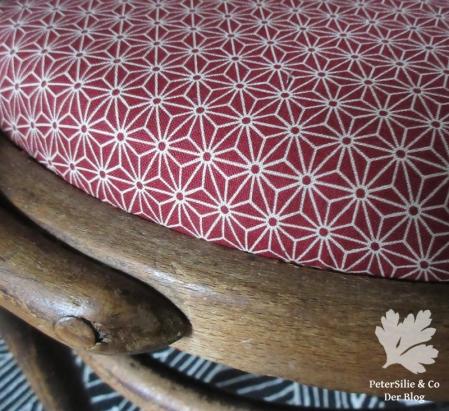 Thonetstuhl traditioneller japanischer Baumwollprint Karlotta Pink