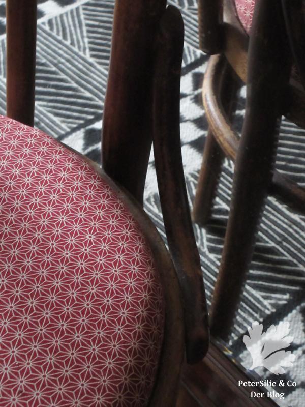 Thonetstuhl Polstern Japanischer baumwollstoff Karlotta Pink
