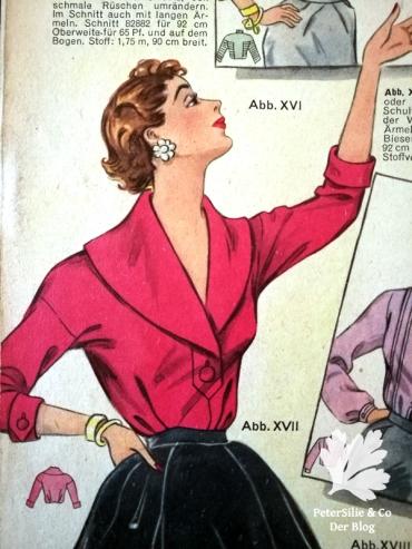 Bluse Berlins Modenblatt Heft 8 Jahrgang 10 Vintage nähen PeterSilieundCo