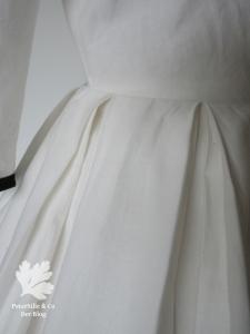 Vintage Kleid Baumwolle Beyer Mode 1960 doppelte Kellerfalten