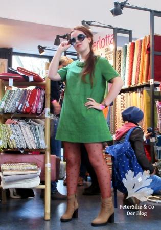 Burda 2/2014 Bouclekleid 60s Kleid nähen Schnittmuster modern