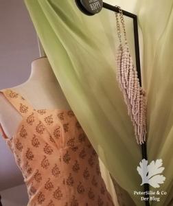 Vintage Kleid Karlotta Pink Etuikleide Chanderi Seide Schnittmuster nähen Blog