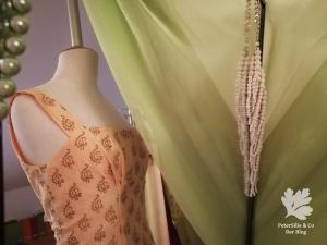 Chanderi Seide Karlotta Pink Vintage Kleid nähen Vintageschnitt der Neue Schnitt nähen Blog
