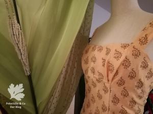Vintagekleid nähen Blog Karlotta Pink Chanderi Seide Etuikleid der neue Schnitt 1964