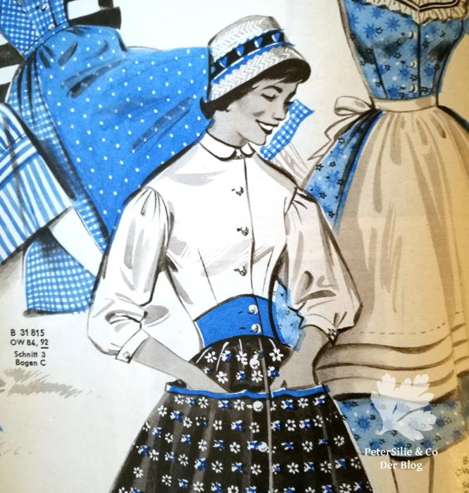 Der neue Schnitt 6/1956 Bluse Vintage nähen PeterSilieundCo