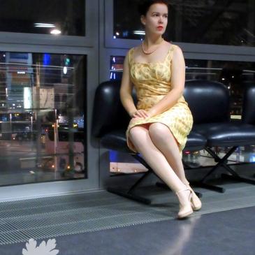 Chanderi Seie Karlotta Pink Vintage Kleid nähen Nähblog Neuer Schnitt