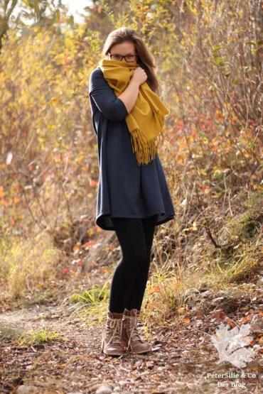 McCalls 7348 M7348 T-Shirtkleid Kleid nähen blau