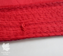 Detail Schlinge handgenäht Wäsche