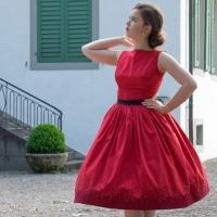Siebdruck Vintage Kleid