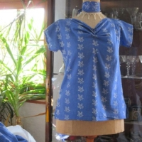 Blaudruck Bluse