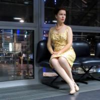 Kleid Vintage Chanderi-Seide