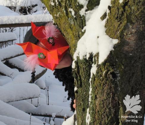 Origami Maske ShweShwe Stoff Karlotta Pink
