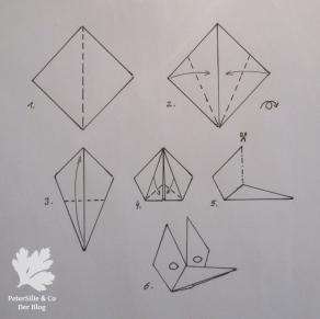 Origami Faltvorlage