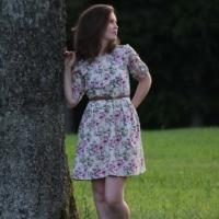 Retroliebe Vintage Blümchen nähen Kleid
