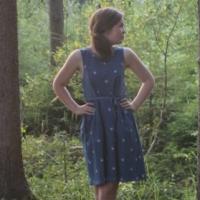 Nähkind Retroliebe Jeanskleid Kleid