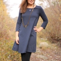 McCalls 7348 T-Shirtkleid Kleid