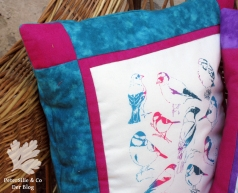 Polster Siebruck Irisdruck Patchwork